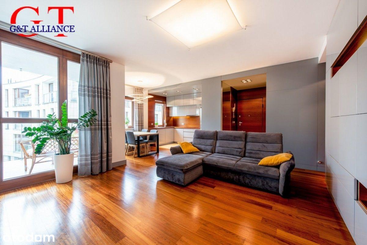 Dwustronny apartament 90 m2 w Miasteczku Wilanów