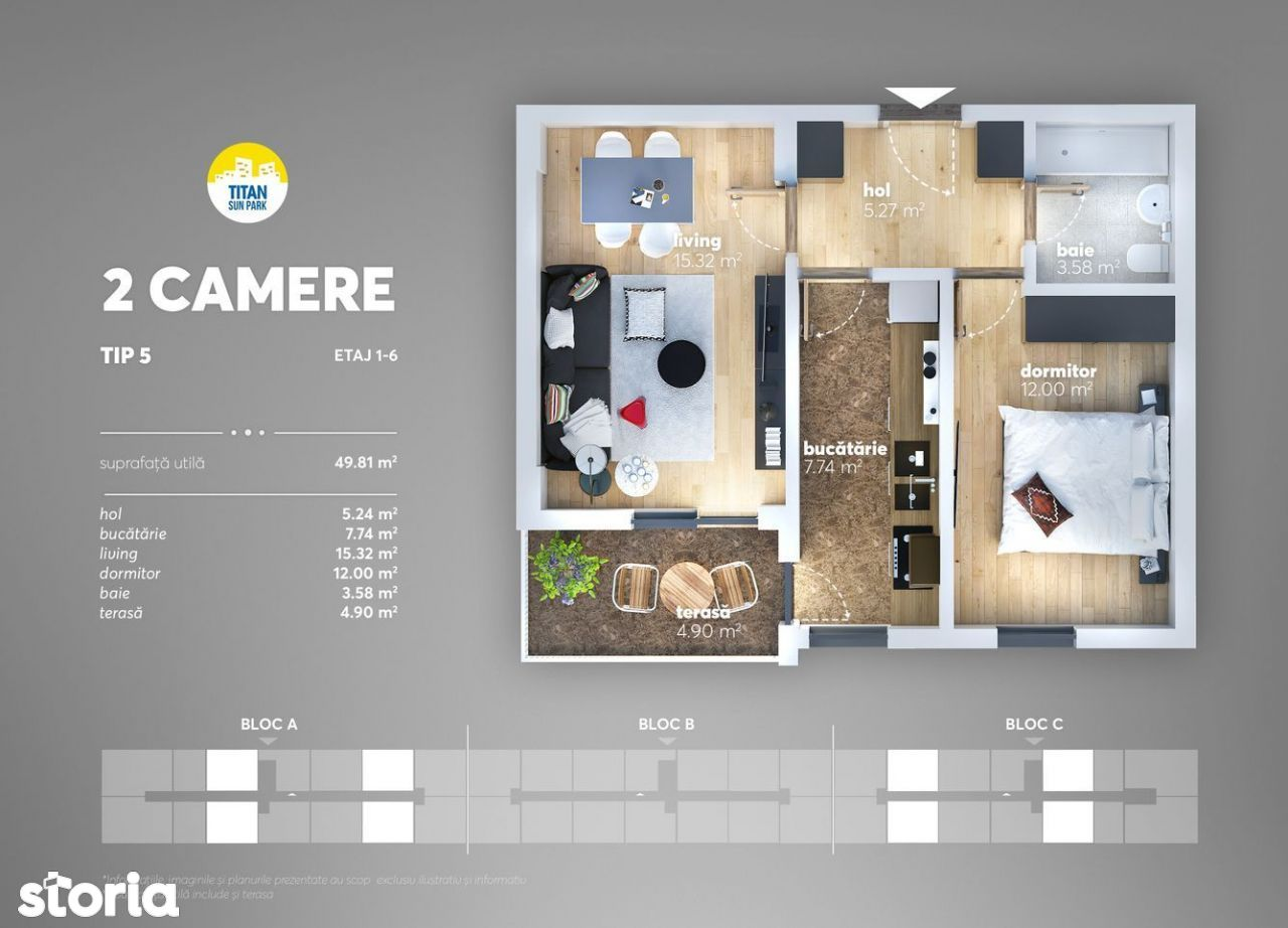 Apartament 2 camere -Titan - Metrou Nicolae Teclu
