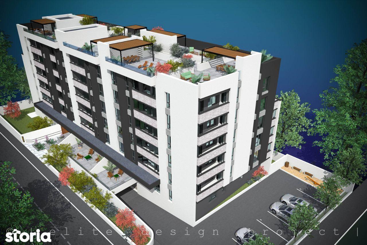 Elvila-Bd Tomis 2 camere 54,39mp + curte 42mp + parcare subterana