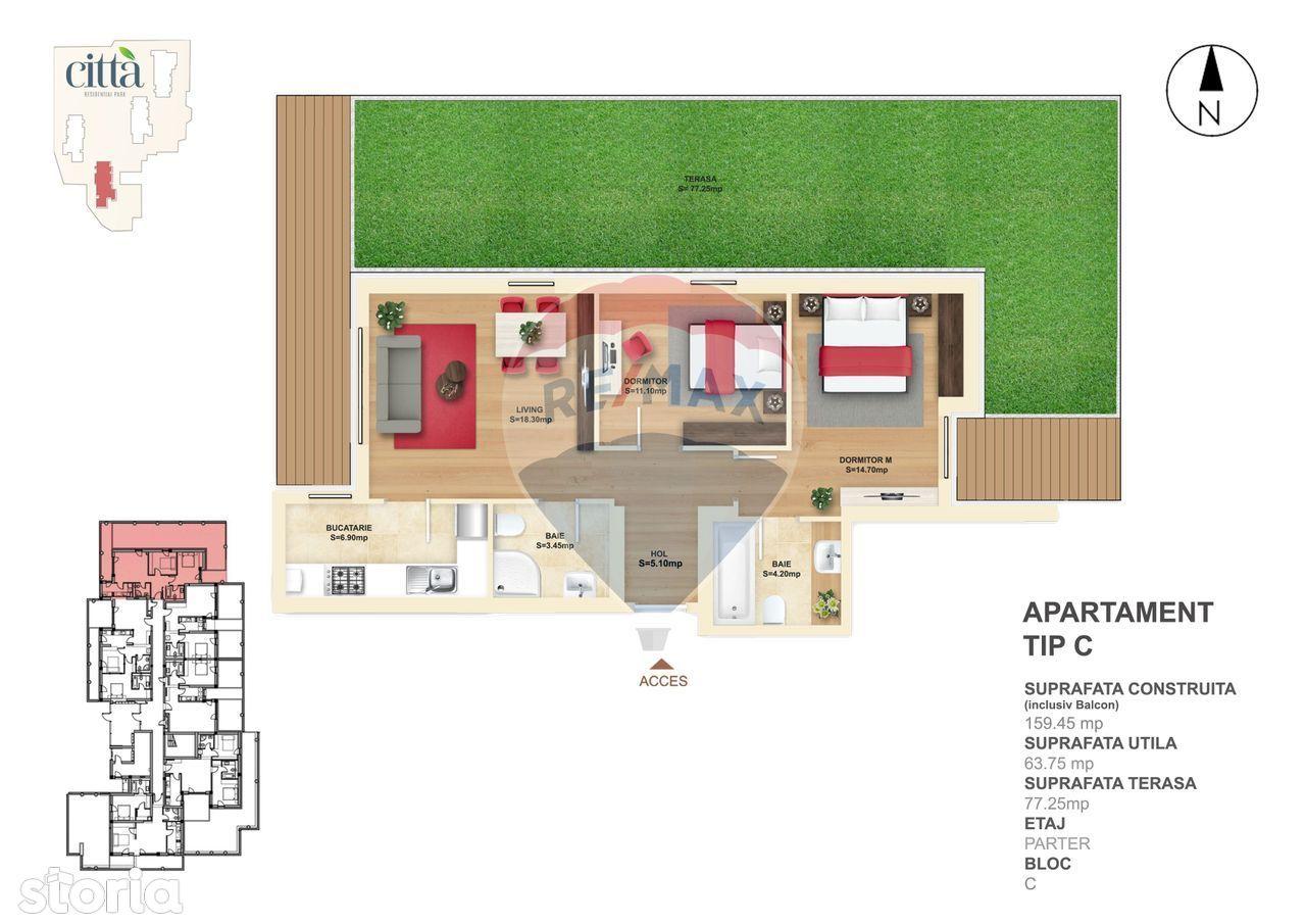 Apartament 3 Camere - Delfinului - Mega Mall - Citta - C.P.3 RMX25897