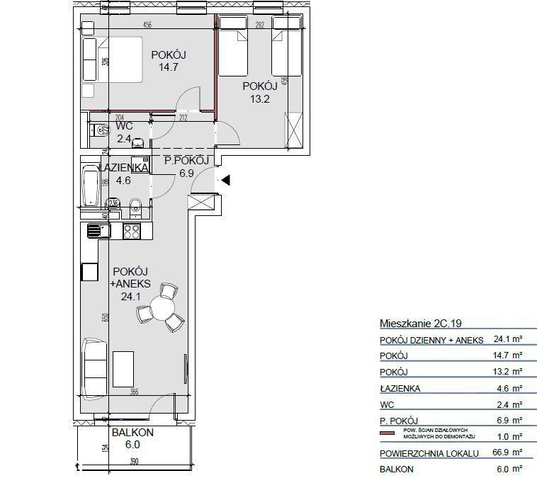 Mieszkanie dla rodziny, korzystny układ! 2022