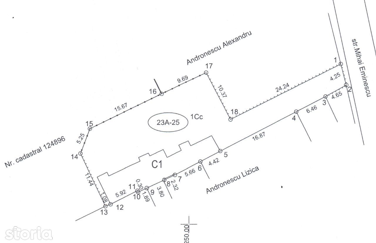 Teren 547 mp, cu casa demolabila, zona Bulevardul Independentei