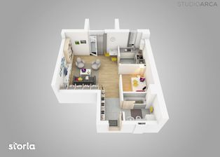 Apartament studio cu 1,5 camere in Vivalia V6 - vedere Iulius Town
