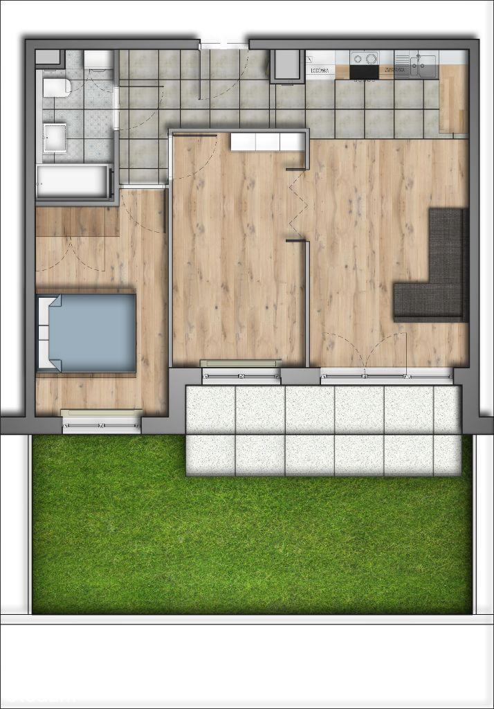 Miasteczko Wilanów 58m2 3 pokoje z ogórdkiem
