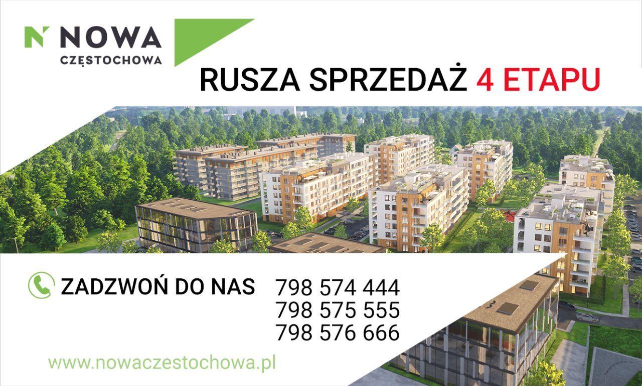 Nowa Częstochowa | 3pokoj - 64m2 | Garaż | BALKON