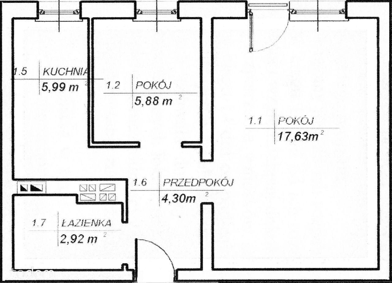 Skawina ul. Słoneczna 33 mieszkanie 37 m² 2 pokoje