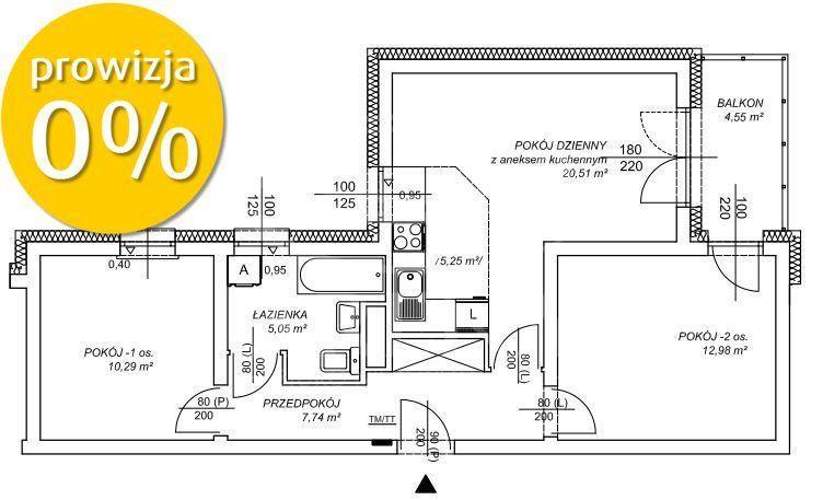 Trzypokojowe mieszkanie w nowo powstałym bloku!