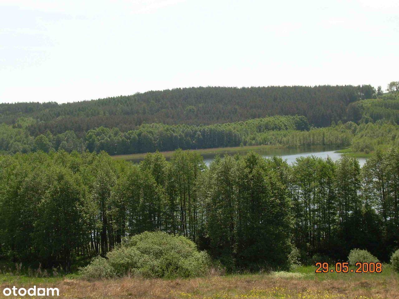 Działka 0,6 ha z linią brzegową jeziora Pasterzewo