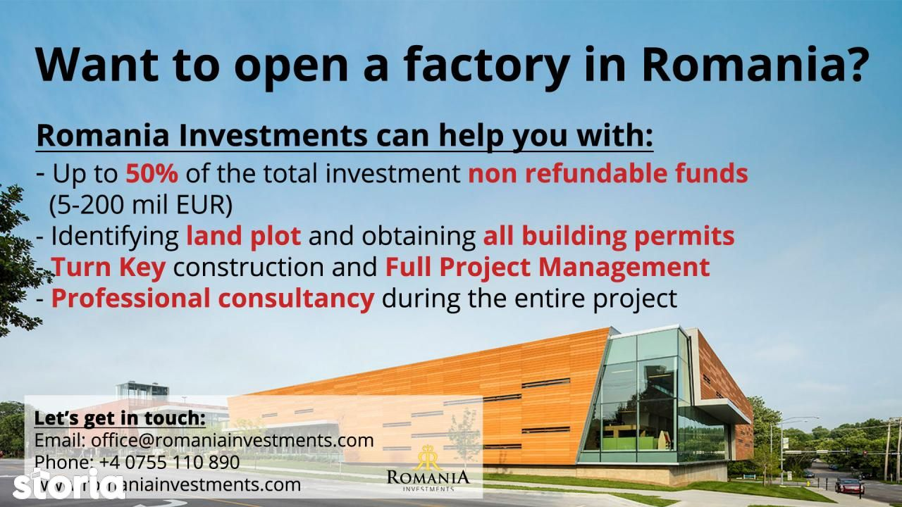 Want to open a factory in Romania?