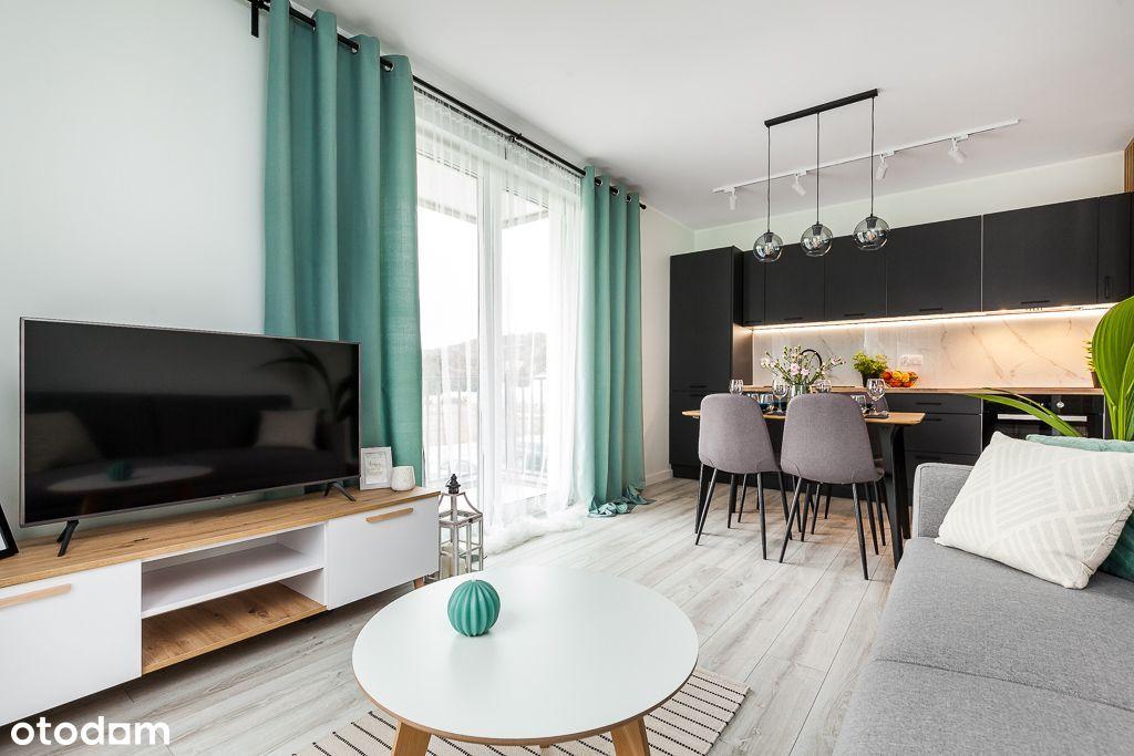 Nowe, wyposażone mieszkanie + 2 miejsca postojowe