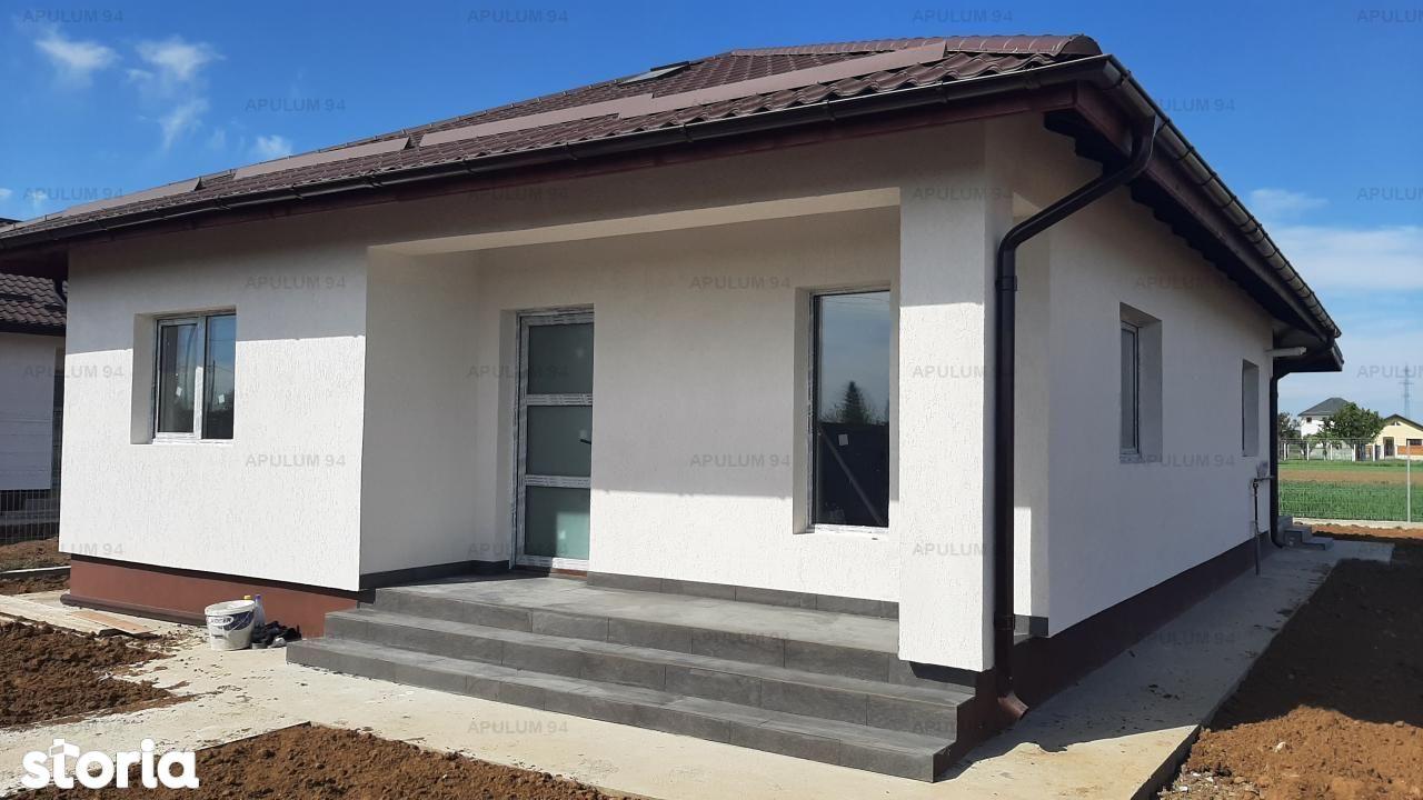 Sabareni, casa 3 cam, 82 mp utili + terasa, CT, curte 420 mp