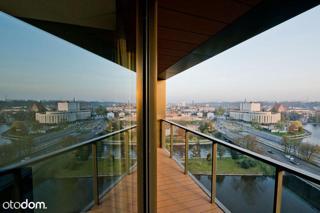 Apartament Nordic Haven, widok na Wyspę Młyńską