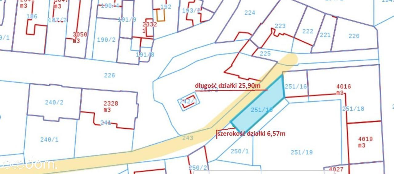 Działka, 205 m², Kluczbork