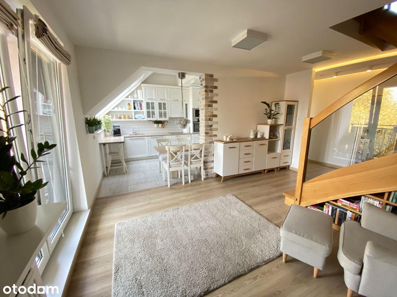 Dwupoziomowe mieszkanie + balkon + taras + garaż