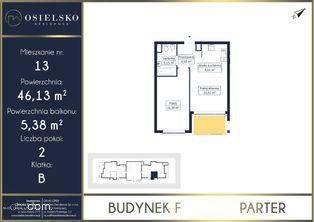 Apartament w Osielsku 2 pokoje 46 m2
