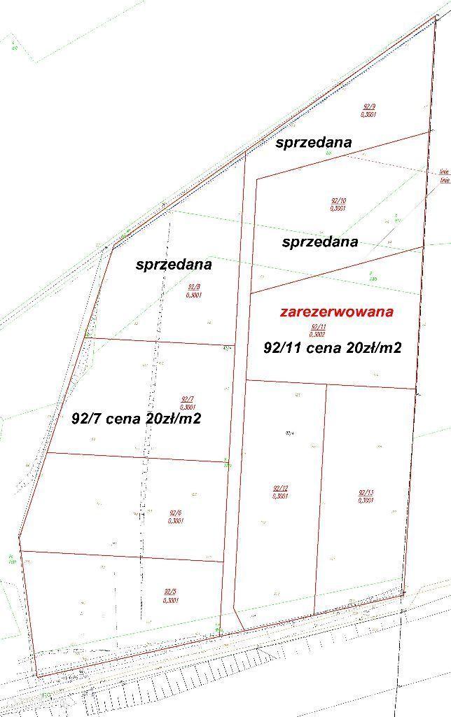 działki rolne 30 arowe Kędzierzyn koło Koszalina