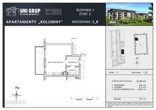 KAWALERKA - Lokal B - 1 PIĘTRO budynek I etap II