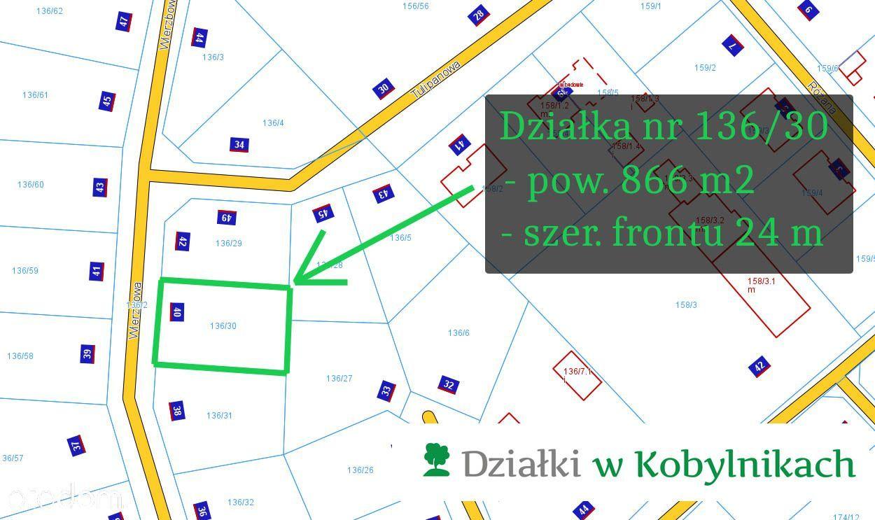 """Działka nr 136/30 -front 24m -Działki """"Na wzgórzu"""""""