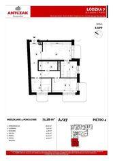 Na sprzedaż mieszkan, 71,28m2, Łódzka 7