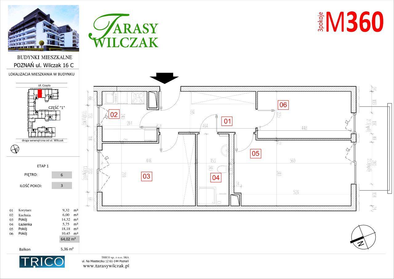 Tarasy Wilczak mieszkanie nr 360