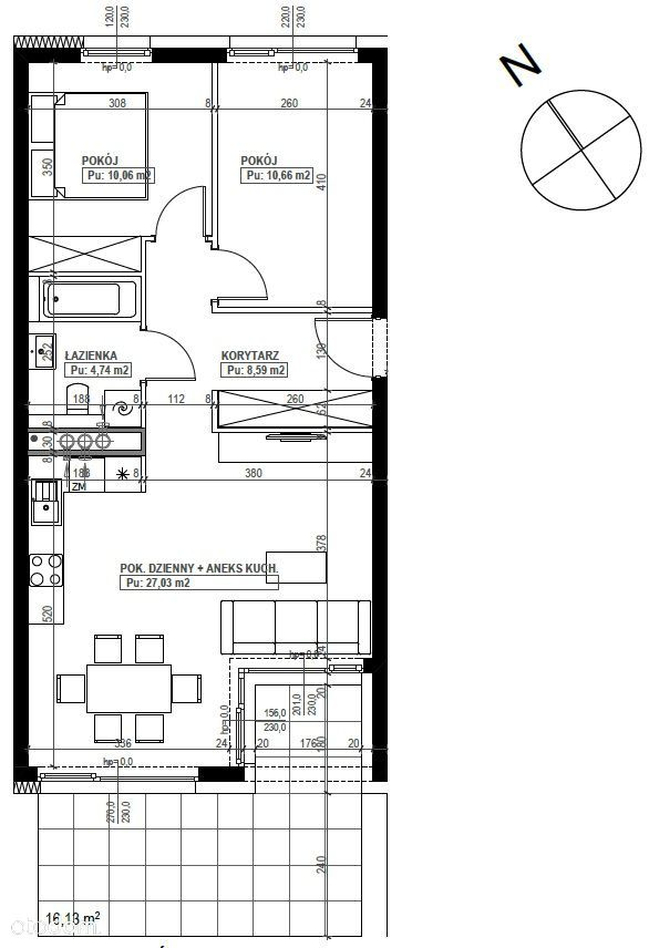 Mieszkanie 3 pokoje, ogród, garaż - Podolany