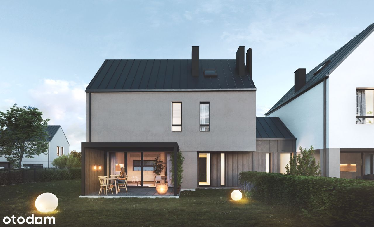 Asymetria - wyjątkowe domy z dużymi ogrodami 1B