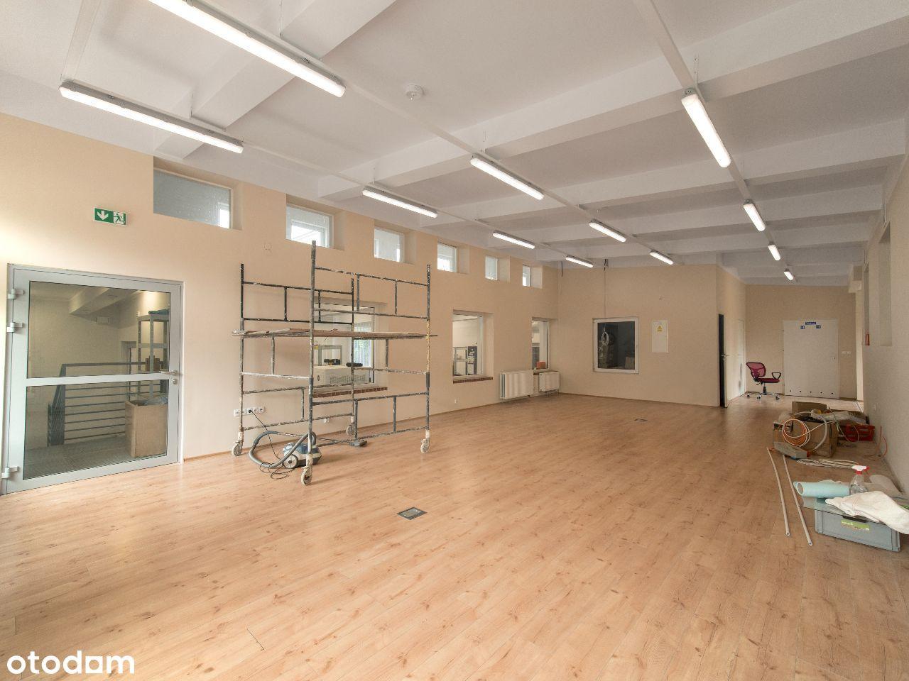 Pomieszczenia warsztatowo-biurowe 140m2