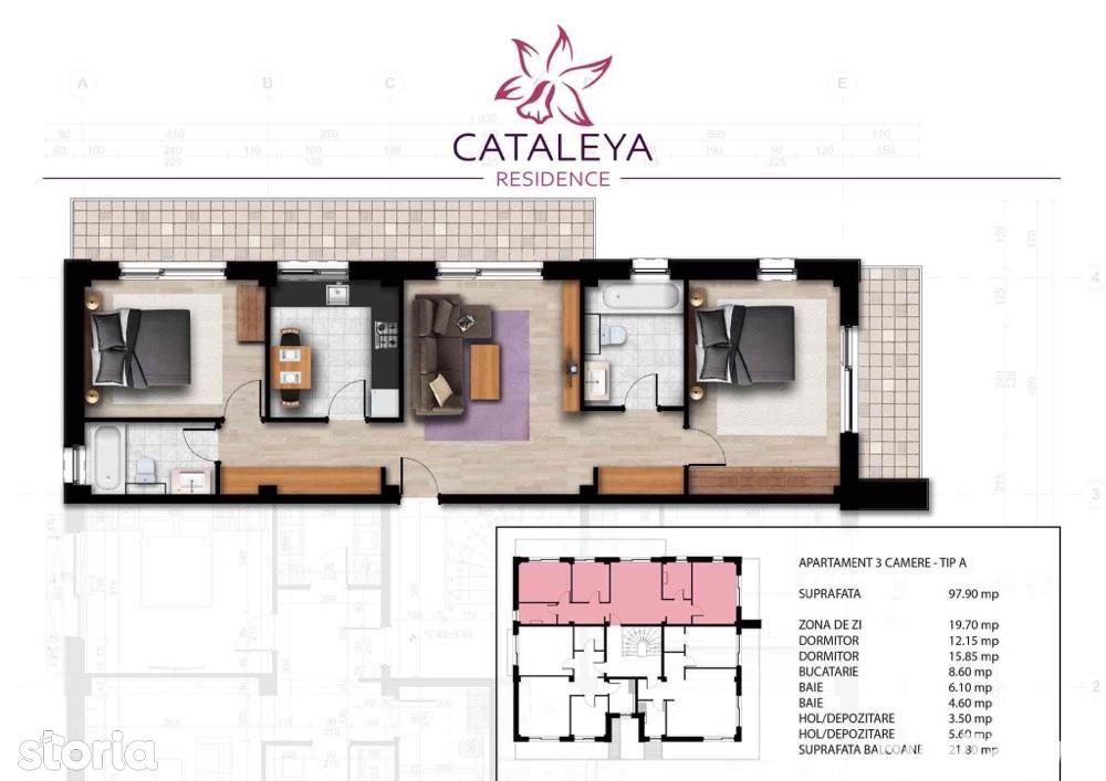 Apartament 3 camere,decomandat,nou, Bucium. Rate direct la dezvoltator
