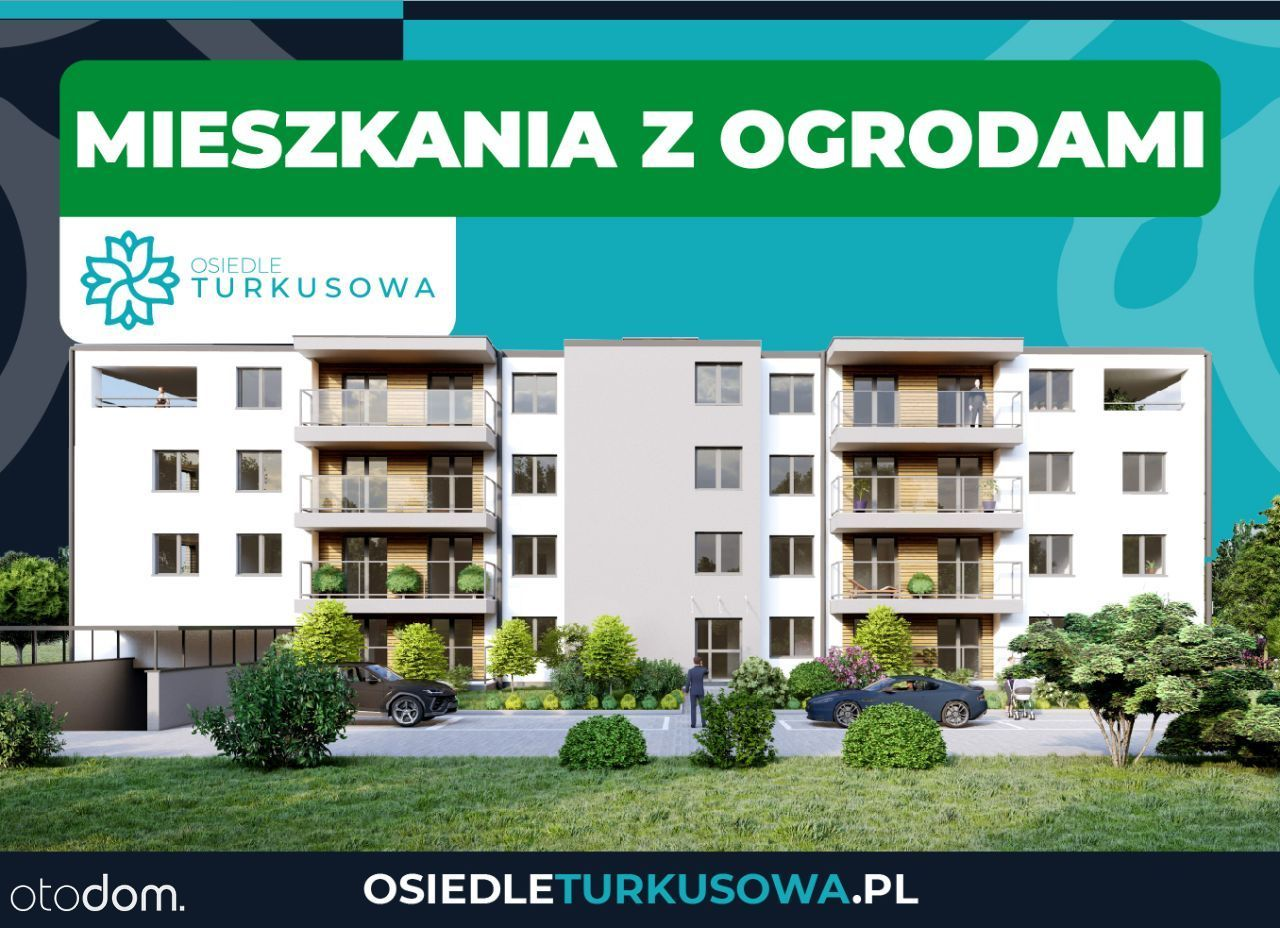 Rodzinne mieszkanie z ogrodem 89 m2 || Turkusowa