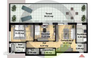 3 camere, terasa de 50 mp! Zona strazii Subcetate!