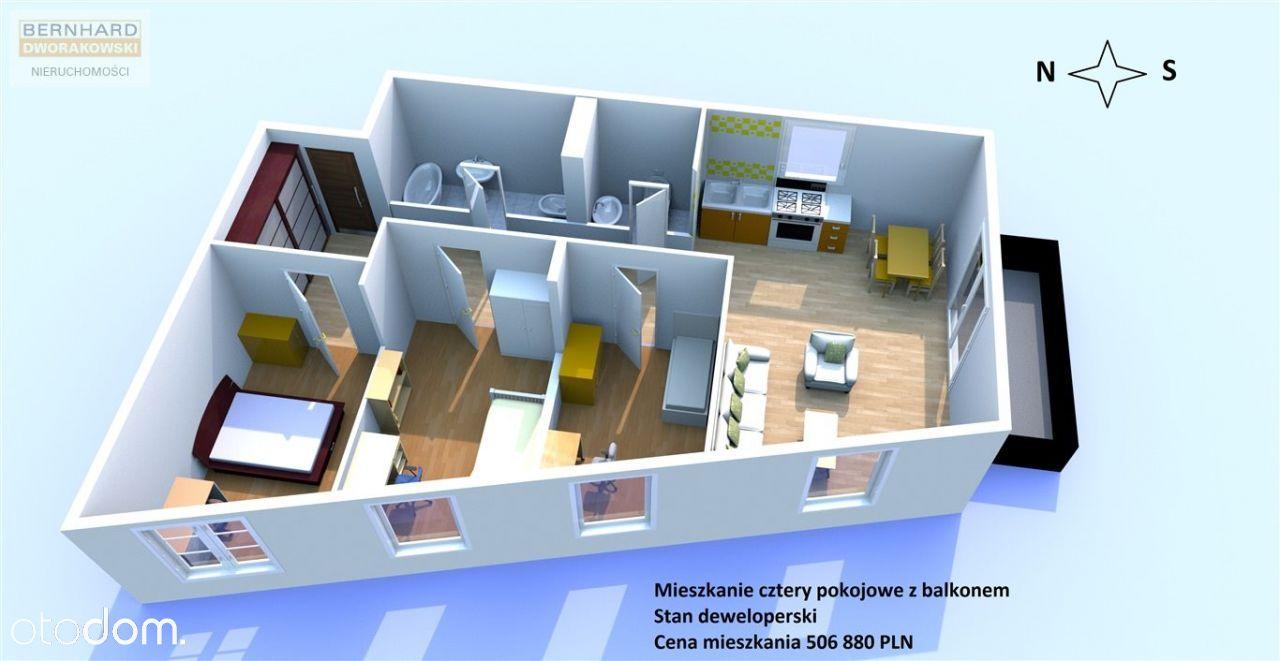 Przestrzenne mieszkanie w stanie deweloperskim