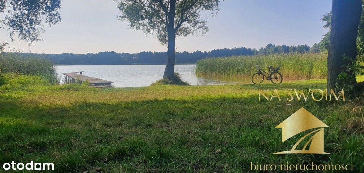 Działka z domkiem murowanym, jezioro, las Annowo