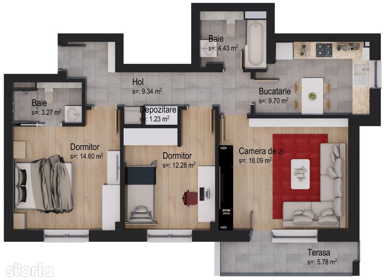 Apartament cu 3 camere Lior by Casa Nobel