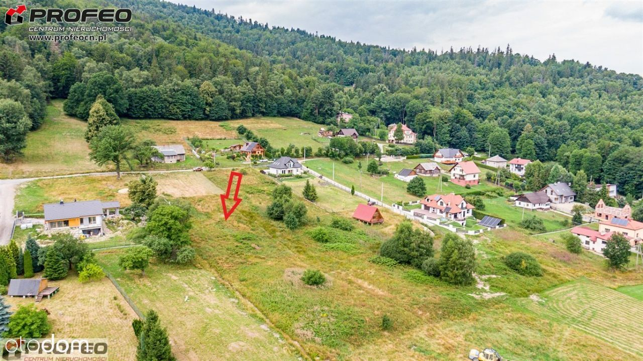 Działka, 936 m², Bystra