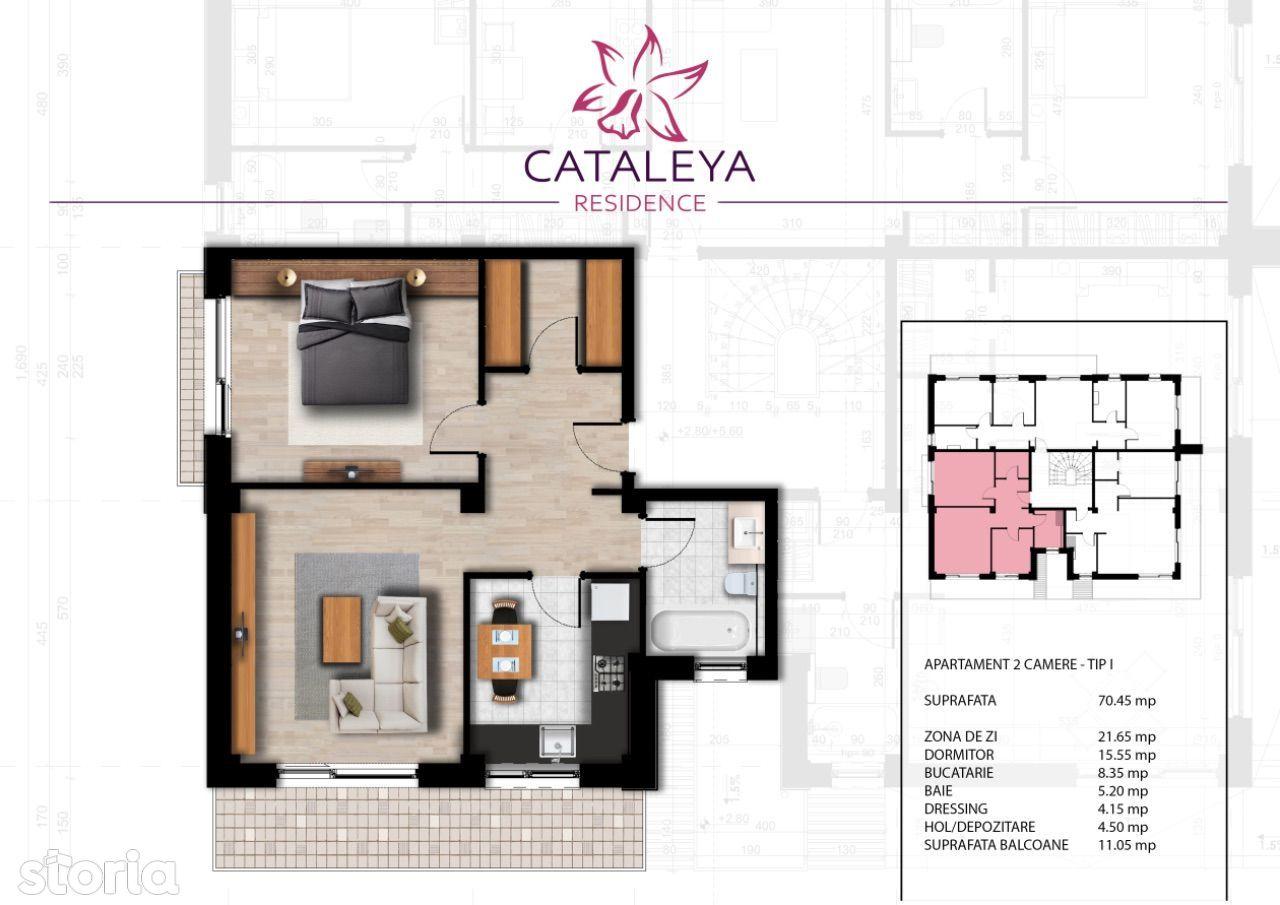 Apartament 2 camere și dressing, bloc nou, rate direct la dezvoltator
