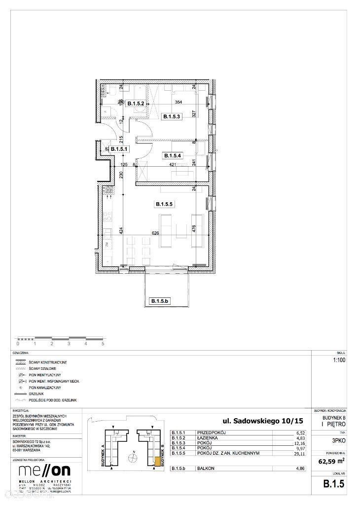 3 pokoje na nowym osiedlu, stan deweloperski