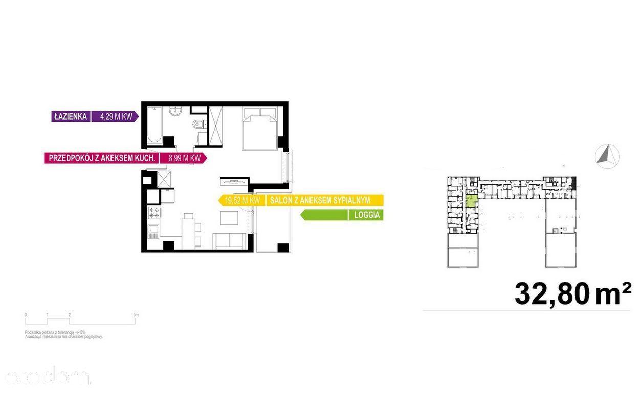 Apartament 2 pokoje, 33m2 w Otoczeniu Biurowców!