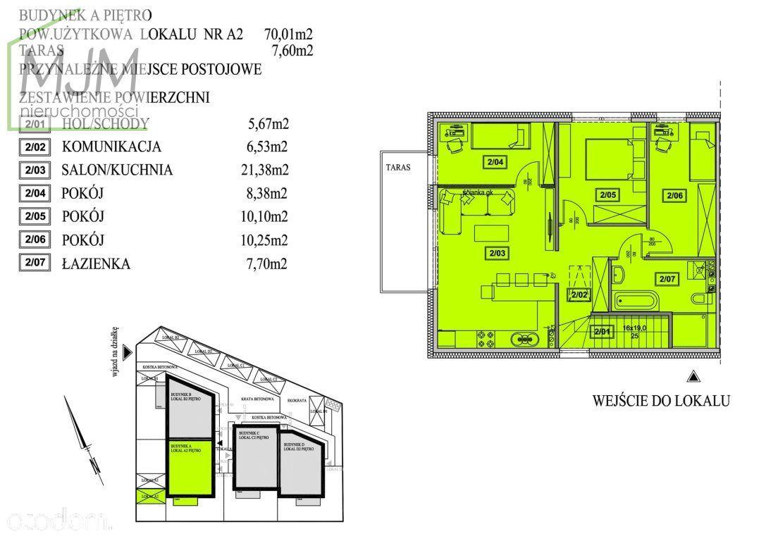 Mieszkanie, 63,78 m², Mierzyn