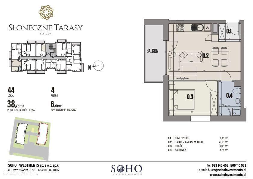 mieszkanie 38,79m2 SŁONECZNE TARASY II ETAP !!!!