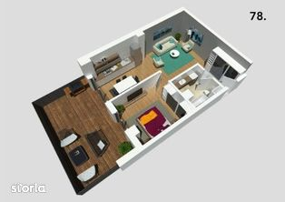Constructor vand apartament 2 camere cu terasa