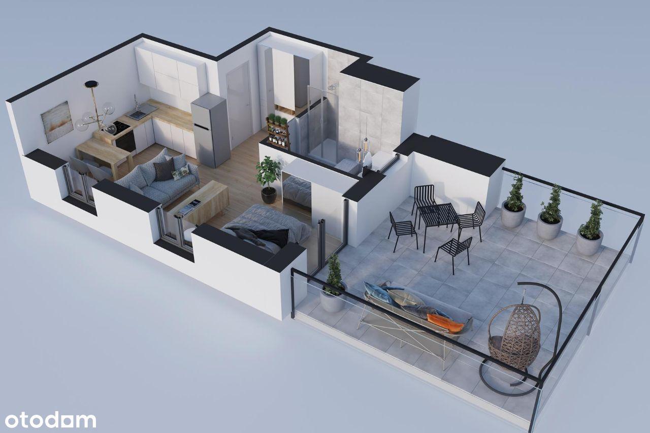 Kawalerka 30,99m2 z trasem 25,39 m2 na dachu