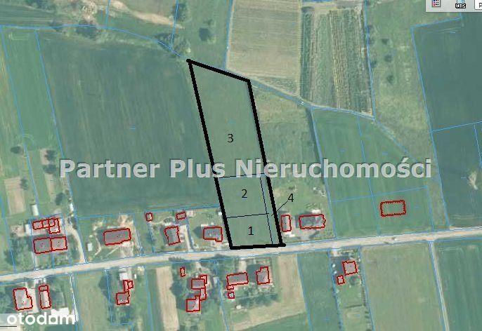4 działki budowlano-rolne w Kończycach Małych
