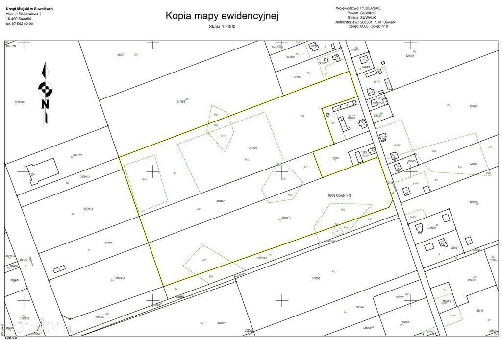 Działka, 74 774 m², Suwałki