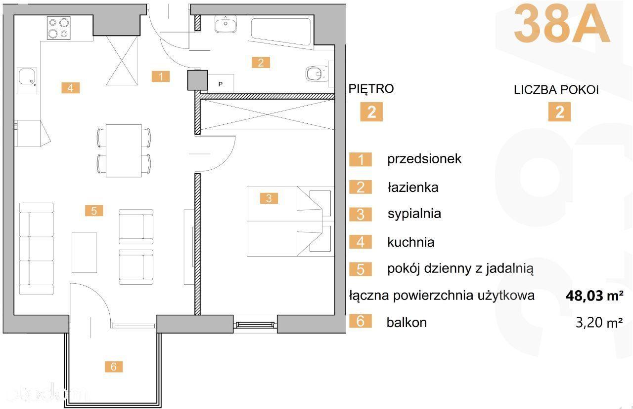 """""""NOWA KIELECKA""""-dwupokojowe mieszkanie z balkonem."""