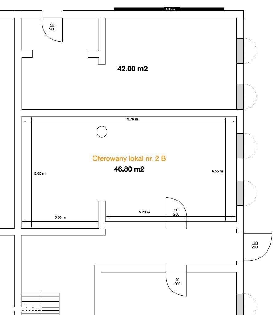 Lokal handlowy / usługowy / biurowy 46 m2 w Ozimku