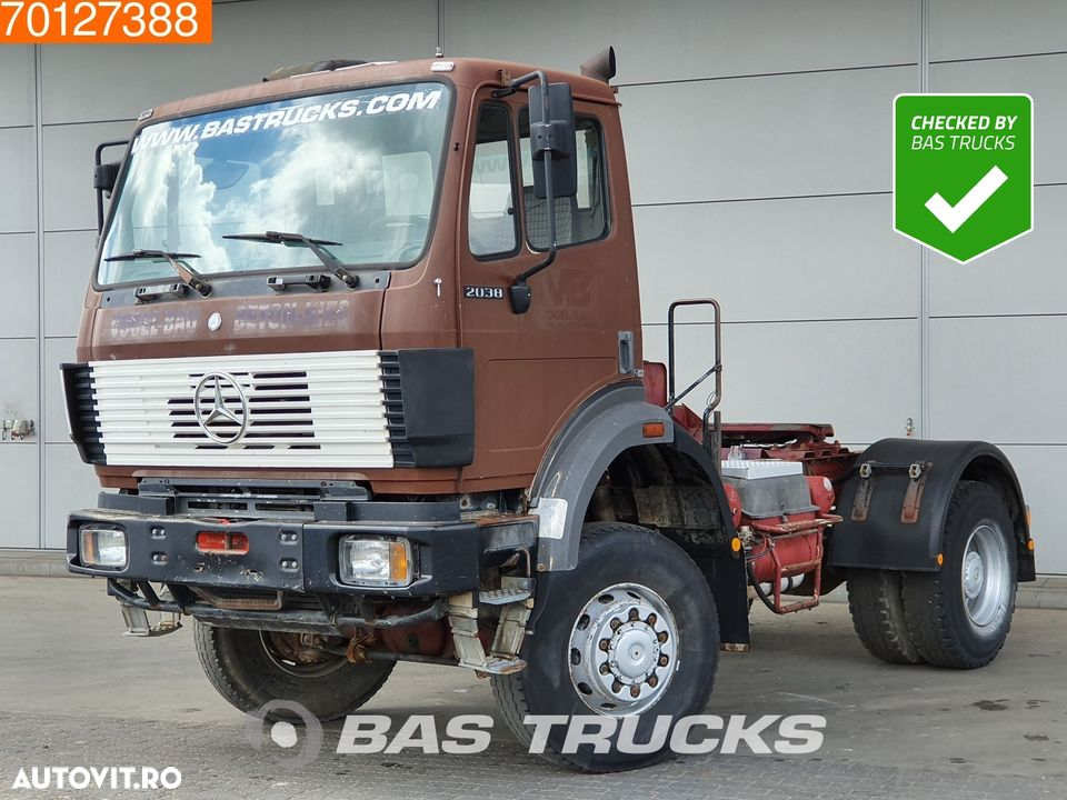 Mercedes-Benz 2038 AS 4X4 4X4 V8 Big-Axle Manual Hydraulik SteelSuspension - 1