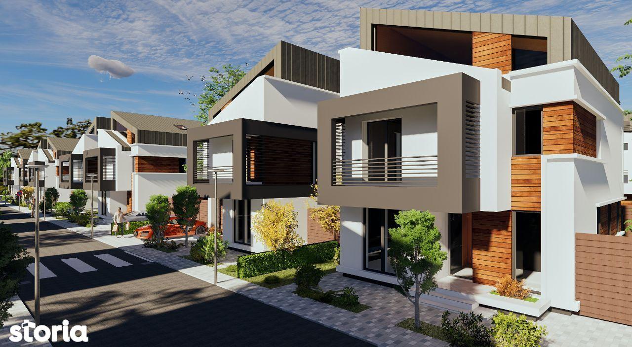 Vila individuala cu 4-5 camere, in complex sigur si teren de 330mp