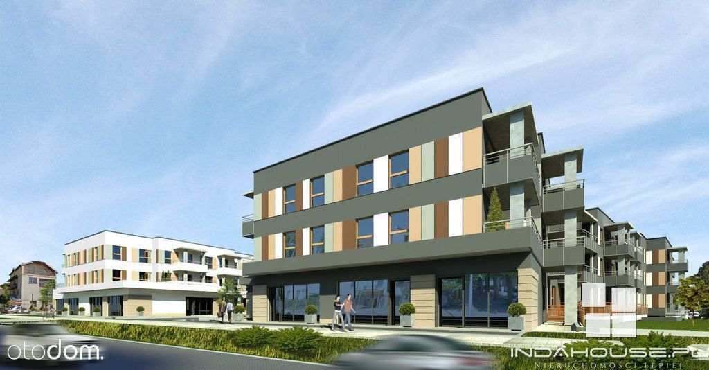 Nowe, 3 pokojowe mieszkanie na parterze z tarasem