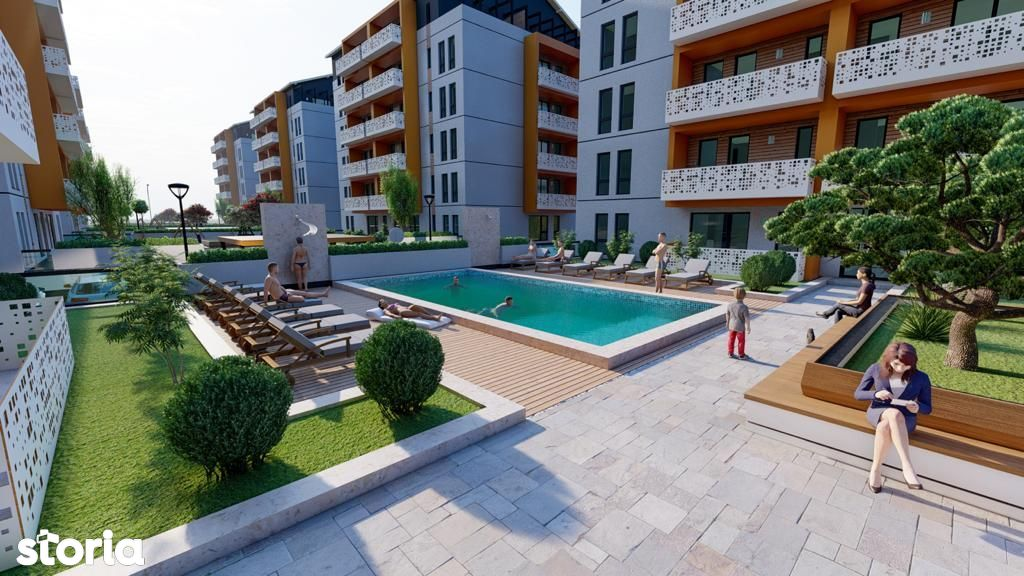 Giroc(Lidl) Penthouse - 3 Camere - 2 Terase - Parcare - Piscina -Lift