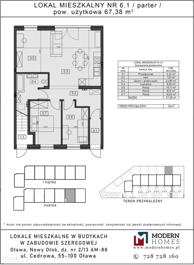 Parter 3 lub 4 pokoje, ogródek, miejsce parkingowe